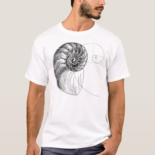 spiral Fibonacci T-Shirt