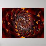 Spiral Fire Print