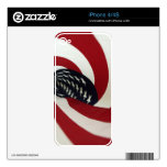 Spiral Flag iPhone 4S Decal
