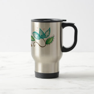 Spiral Floral Embroidery Design Travel Mug