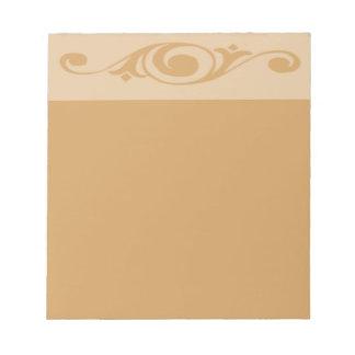 Spiral Floret | Choose Color | Unlined Notepad