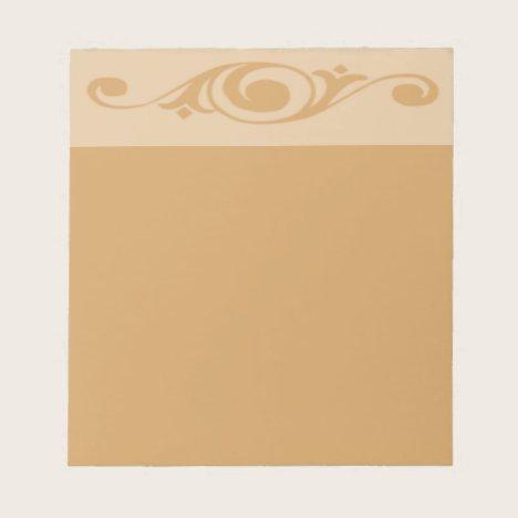 Spiral Floret   Choose Color   Unlined Notepad