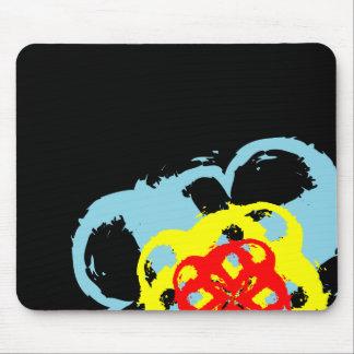 spiral flower design mouse pad