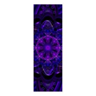 Spiral Flower Fractal Dark Purple UV Bookmark Mini Business Card