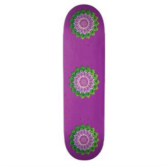 Spiral Flower Mandala Skateboard