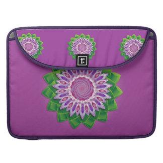 Spiral Flower Mandala Sleeves For MacBook Pro