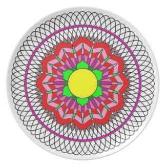 Spiral Flower Plate
