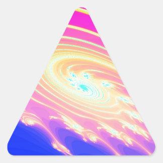 Spiral Flowers Triangle Sticker