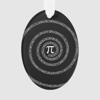 Spiral for Pi Digits on Black Ornament