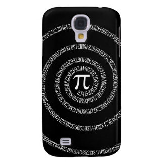 Spiral for Pi Digits on Black Samsung Galaxy S4 Cover