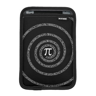 Spiral for Pi Digits on Black Sleeve For iPad Mini