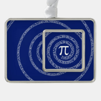 Spiral for Pi Numbers on Navy Blue Decor Christmas Ornament