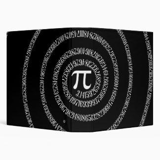 Spiral for Pi on Black Decor Binder