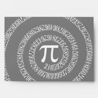 Spiral for Pi on Black Envelope