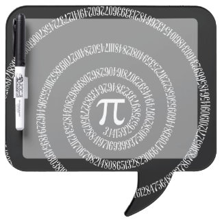 Spiral for Pi on Black Style Dry Erase Board