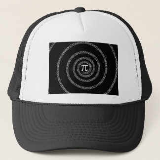 Spiral for Pi on Black Style Trucker Hat