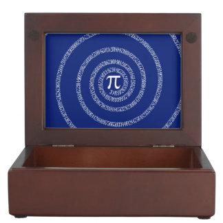 Spiral for Pi on Navy Blue Decor Keepsake Box