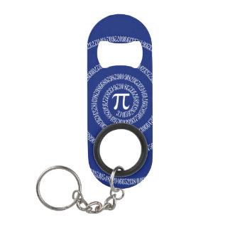 Spiral for Pi on Navy Blue Decor Keychain Bottle Opener