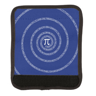 Spiral for Pi on Navy Blue Decor Luggage Handle Wrap