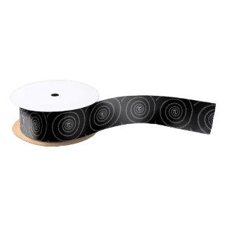Spiral for Pi on Solid Black Decor Satin Ribbon