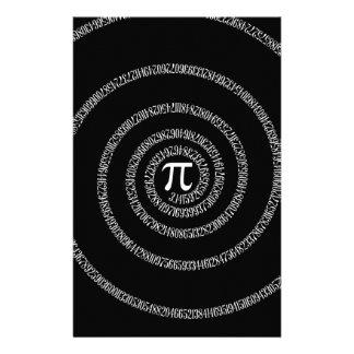 Spiral for Pi on Solid Black Flyer