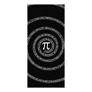 Spiral for Pi on Solid Black Rack Card