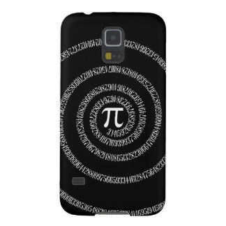 Spiral for Pi Typography on Black Galaxy S5 Cases
