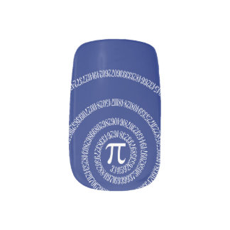 Spiral for Pi Typography on Blue Minx® Nail Wraps