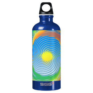 Spiral Fractal Abstract Water Bottle