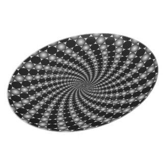 Spiral Fractal Galaxy Dinner Plate