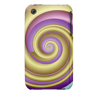 Spiral fractal iPhone 3G/3GS Case w Optical effect iPhone 3 Cover