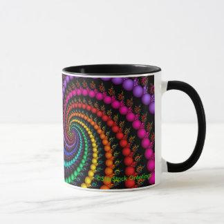 Spiral Fractal Rainbow Mug