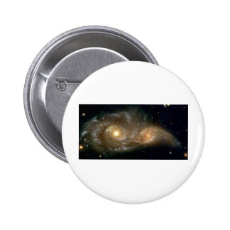 Spiral Galaxies Colliding Pinback Button