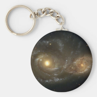Spiral Galaxies NGC 2207 and IC 2163 Keychain
