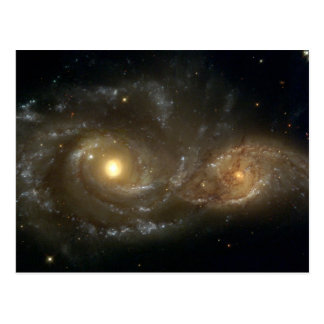 Spiral Galaxies NGC 2207 and IC 2163 Postcard