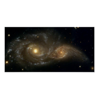 Spiral Galaxies NGC 2207 and IC 2163 Poster