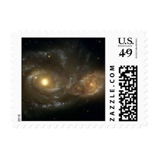 Spiral Galaxies NGC 2207 and IC 2163 - small Stamp