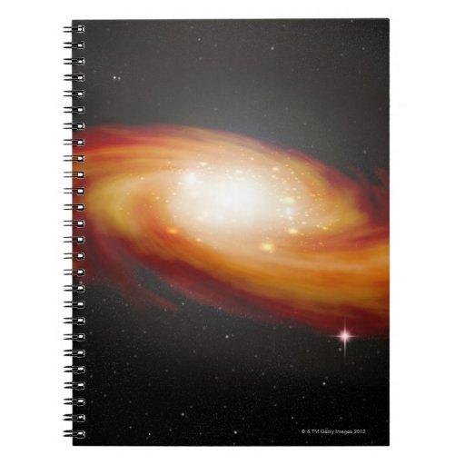 Spiral Galaxy 3 Spiral Note Books