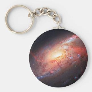 Spiral Galaxy Andromeda Milky Way Universe Stars Basic Round Button Keychain