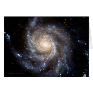 Spiral Galaxy - Blank Inside Greeting Card