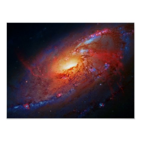 Spiral Galaxy, Canes Venatici beauty in space Poster