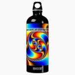 Spiral Galaxy - Fractal Art Aluminum Water Bottle