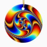 Spiral Galaxy - Fractal Art Ceramic Ornament