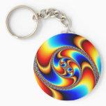 Spiral Galaxy - Fractal Art Keychain