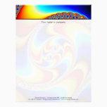 Spiral Galaxy - Fractal Art Letterhead
