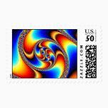 Spiral Galaxy - Fractal Art Postage