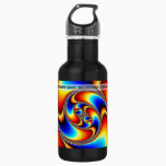 Spiral Galaxy - Fractal Art Water Bottle
