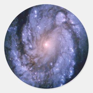 Spiral Galaxy M100 Hubble Classic Round Sticker
