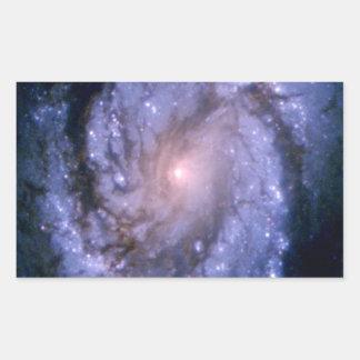 Spiral Galaxy M100 Hubble Rectangular Sticker