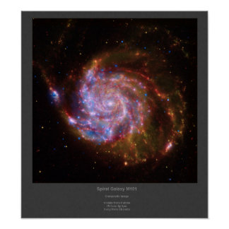 Spiral Galaxy M101 composite image Poster